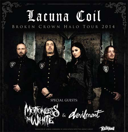 Rockinconcerts: Lacuna Coil /w Motionless In White & Devilment